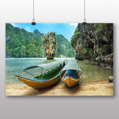 Big Box Art Phang Nga Boats Thailand Photographic Print
