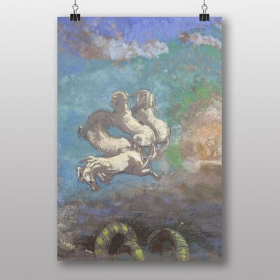 Big Box Art White Horses by Odilon Redon Art Print