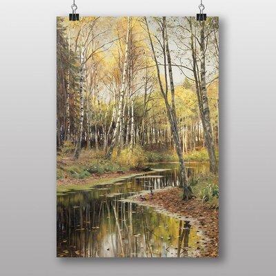 Big Box Art Peder Mork Monsted Autumn in the Birchwood by Peder Mork Monstead Art Print