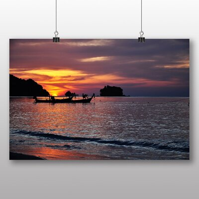 Big Box Art Phuket Beach Sunset Thailand Photographic Print