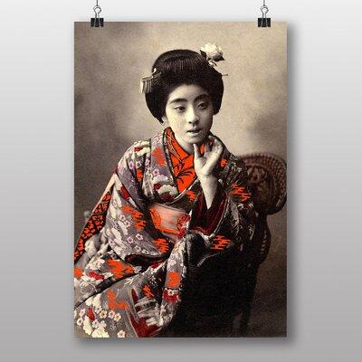 Big Box Art Oriental Japanese Geisha Girl No.3 Photographic Print