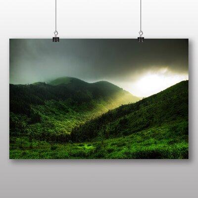 Big Box Art Light over Mountains Photographic Print