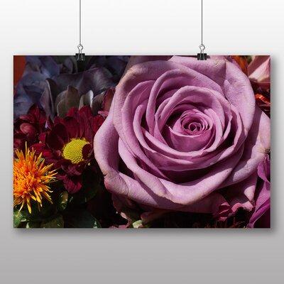 Big Box Art Purple Rose Flower No.1 Photographic Print