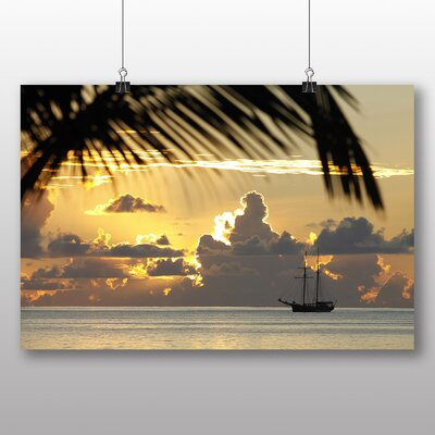 Big Box Art Seychelles Sailing Ship Photographic Print