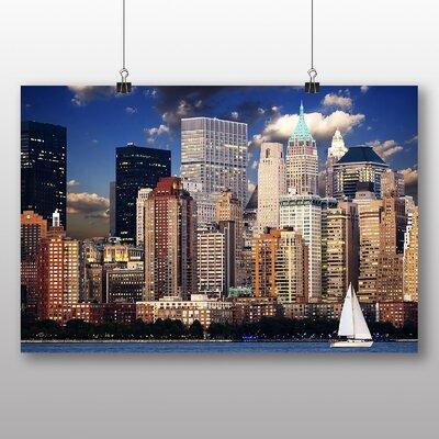 Big Box Art New York Manhattan Sailing Boat Photographic Print