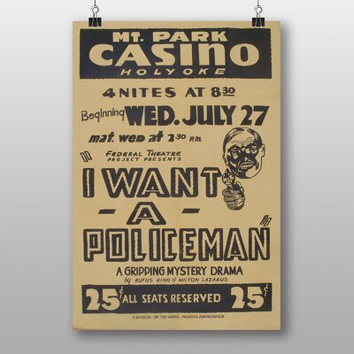 Big Box Art I Want a Policeman Vintage Advertisement