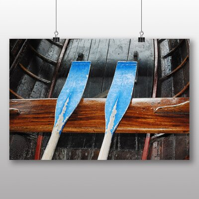 Big Box Art Oars on Boat Photographic Print