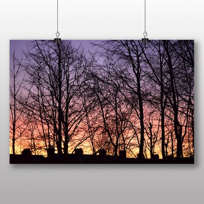 Big Box Art Sunrise and Trees Photographic Print