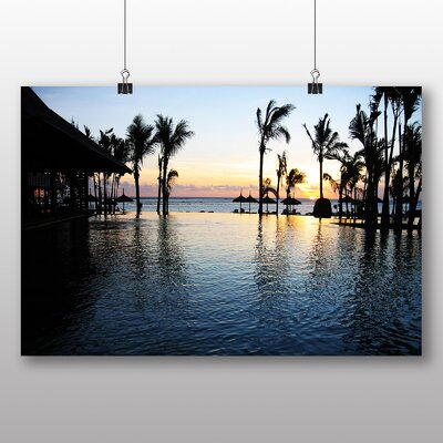 Big Box Art Sunset Mauritius Photographic Print