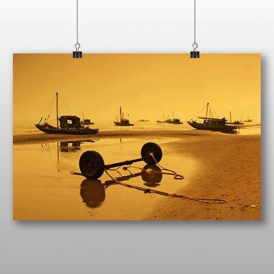 Big Box Art Sunset Beach Boats No.1 Photographic Print