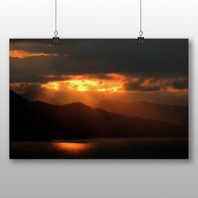 Big Box Art Sunset Mountain Photographic Print