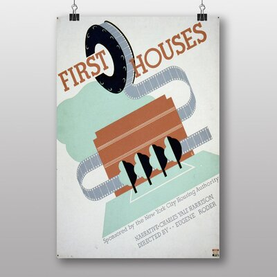 Big Box Art First Houses Vintage Advertisement