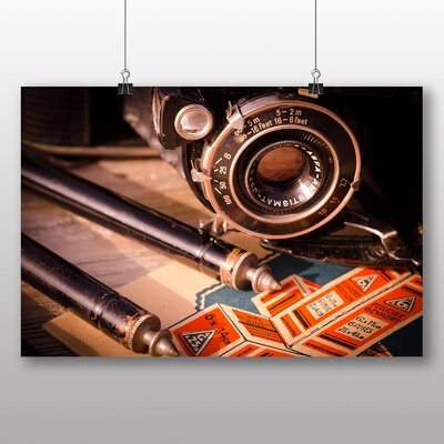 Big Box Art Vintage Retro Camera No.2 Photographic Print
