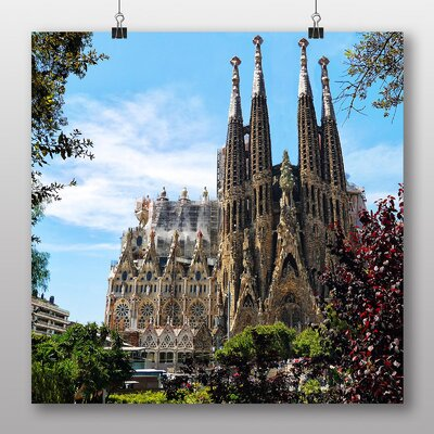 Big Box Art Sagrada Familia Barcelona Spain Photographic Print
