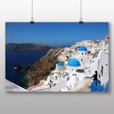 Big Box Art Santorini Domed Church Greece Photographic Print