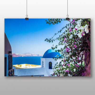Big Box Art Santorini Domed Church Greece No.2 Photographic Print