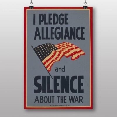 Big Box Art I Pledge Allegiance Vintage Advertisement