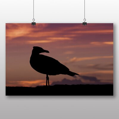 Big Box Art Seagull Sunset No.2 Photographic Print