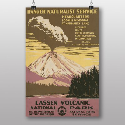 Big Box Art Lassen Volcanic National Park Vintage Advertisement
