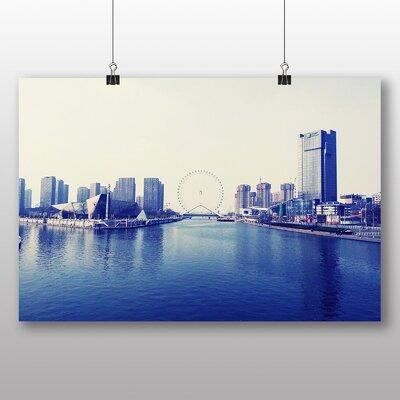 Big Box Art Tianjin Eye Skyline China Photographic Print