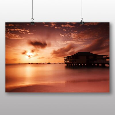 Big Box Art Sunset in Harbour No.1 Photographic Print