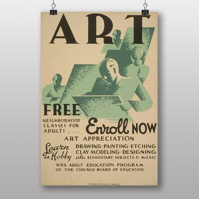 Big Box Art Enroll Now No.2 Vintage Advertisement