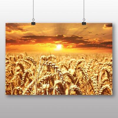 Big Box Art Wheat Field Sunset Photographic Print