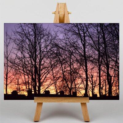 Big Box Art Sunrise and Trees Photographic Print on Canvas