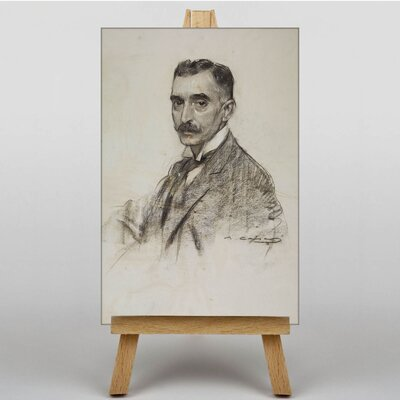 "Big Box Art ""Francesc Macia"" by Ramon Casas i Carbo Art Print on Canvas"