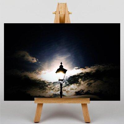 Big Box Art Street Lamp Sunset Photographic Print Wrapped on Canvas