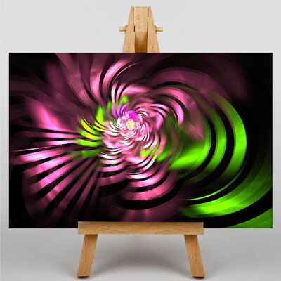 Big Box Art Mixed Colour Fractal Abstract No.47 Graphic Art Wrapped on Canvas