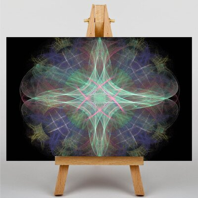 Big Box Art Mixed Colour Fractal Abstract No.3 Graphic Art Wrapped on Canvas
