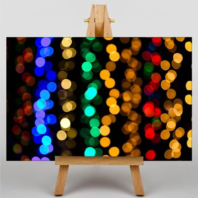 Big Box Art Blurred Fairy Lights Abstract No.5 Graphic Art on Canvas