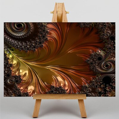 Big Box Art Mixed Colour Fractal Abstract No.1 Graphic Art Wrapped on Canvas