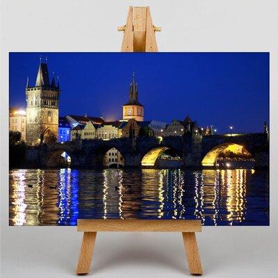 Big Box Art Prague Landscape Czech Republic Charles Bridge Photographic Print on Canvas