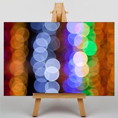 Big Box Art Blurred Fairy Lights Abstract Graphic Art on Canvas
