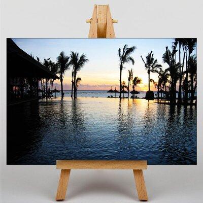 Big Box Art Sunset Mauritius Photographic Print on Canvas