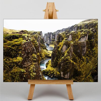 Big Box Art Tectonic Plates Iceland Photographic Print on Canvas