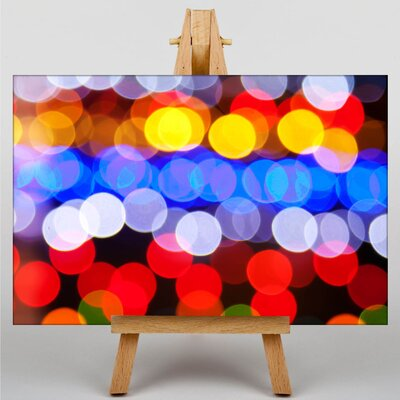 Big Box Art Blurred Fairy Lights Abstract No.3 Photographic Print Wrapped on Canvas