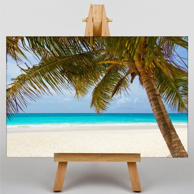 Big Box Art Palm Tree Tropical Beach Paradise No.3 Photographic Print on Canvas