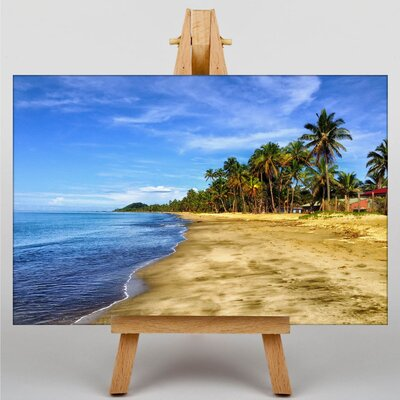 Big Box Art Palm Tree Tropical Beach Paradise No.5 Photographic Print on Canvas