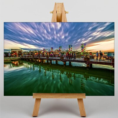 Big Box Art Sunset No.15 Graphic Art Wrapped on Canvas
