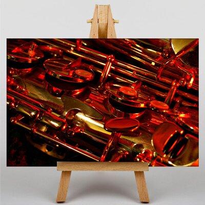 Big Box Art Saxophone Instrument No.1 Graphic Art on Canvas