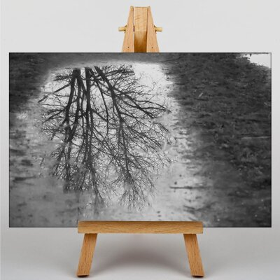Big Box Art Rain Puddle Photographic Print on Canvas