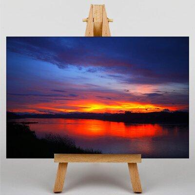 Big Box Art Sunset Laos Photographic Print on Canvas