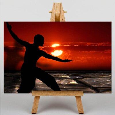 Big Box Art Tai Chi Sunset Graphic Art Wrapped on Canvas