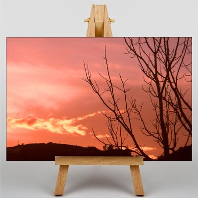 Big Box Art Pink Sunset Photographic Print Wrapped on Canvas