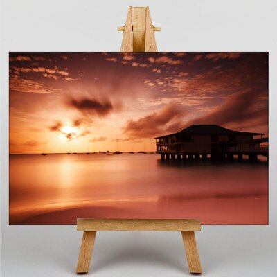 Big Box Art Sunset in Harbour No.1 Photographic Print on Canvas