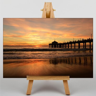 Big Box Art Pier Jetty Sea No.3 Photographic Print on Canvas