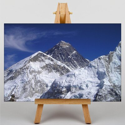 Big Box Art Mount Everest Mountain No.4 Photographic Print Wrapped on Canvas